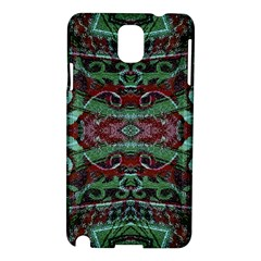 Tribal Ornament Pattern In Red And Green Colors Samsung Galaxy Note 3 N9005 Hardshell Case