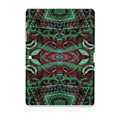 Tribal Ornament Pattern in Red and Green Colors Samsung Galaxy Tab 2 (10.1 ) P5100 Hardshell Case