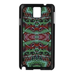 Tribal Ornament Pattern in Red and Green Colors Samsung Galaxy Note 3 N9005 Case (Black)
