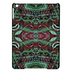 Tribal Ornament Pattern in Red and Green Colors Apple iPad Air Hardshell Case