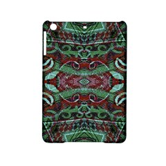 Tribal Ornament Pattern in Red and Green Colors Apple iPad Mini 2 Hardshell Case