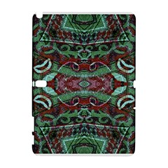 Tribal Ornament Pattern in Red and Green Colors Samsung Galaxy Note 10.1 (P600) Hardshell Case