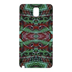 Tribal Ornament Pattern in Red and Green Colors Samsung Galaxy Note 3 N9005 Hardshell Back Case