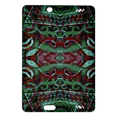 Tribal Ornament Pattern in Red and Green Colors Kindle Fire HD (2013) Hardshell Case