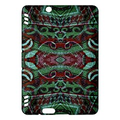 Tribal Ornament Pattern in Red and Green Colors Kindle Fire HDX Hardshell Case
