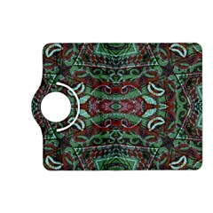 Tribal Ornament Pattern in Red and Green Colors Kindle Fire HD (2013) Flip 360 Case