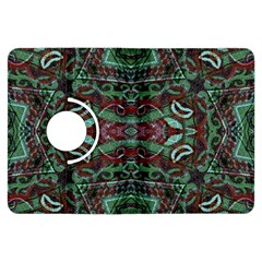 Tribal Ornament Pattern in Red and Green Colors Kindle Fire HDX Flip 360 Case