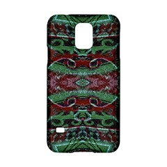 Tribal Ornament Pattern in Red and Green Colors Samsung Galaxy S5 Hardshell Case