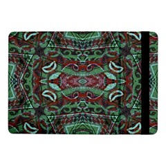 Tribal Ornament Pattern In Red And Green Colors Samsung Galaxy Tab Pro 10 1  Flip Case