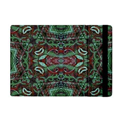 Tribal Ornament Pattern In Red And Green Colors Apple Ipad Mini 2 Flip Case