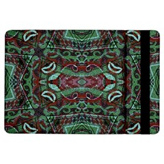 Tribal Ornament Pattern In Red And Green Colors Apple Ipad Air Flip Case