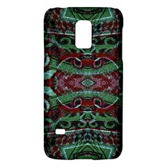 Tribal Ornament Pattern In Red And Green Colors Samsung Galaxy S5 Mini Hardshell Case
