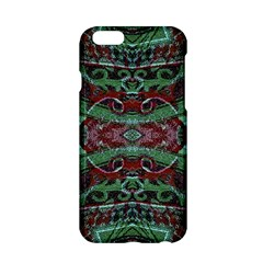 Tribal Ornament Pattern in Red and Green Colors Apple iPhone 6 Hardshell Case