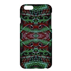 Tribal Ornament Pattern In Red And Green Colors Apple Iphone 6 Plus Hardshell Case