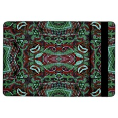 Tribal Ornament Pattern in Red and Green Colors Apple iPad Air 2 Flip Case