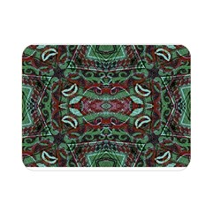 Tribal Ornament Pattern In Red And Green Colors Double Sided Flano Blanket (mini)