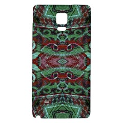 Tribal Ornament Pattern in Red and Green Colors Samsung Note 4 Hardshell Back Case