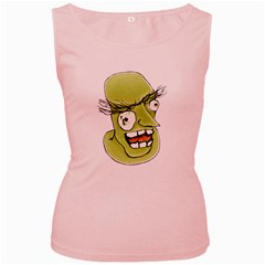 Mad Monster Man with Evil Expression Women s Tank Top (Pink)