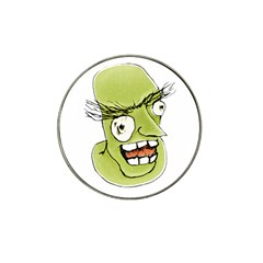Mad Monster Man With Evil Expression Golf Ball Marker (for Hat Clip)