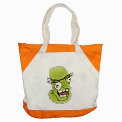 Mad Monster Man With Evil Expression Accent Tote Bag