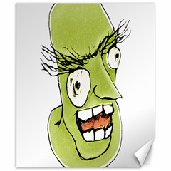 Mad Monster Man With Evil Expression Canvas 8  X 10  (unframed)