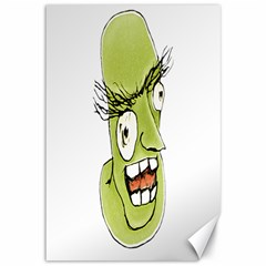 Mad Monster Man with Evil Expression Canvas 12  x 18  (Unframed)