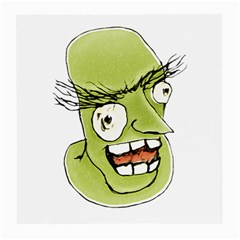 Mad Monster Man with Evil Expression Glasses Cloth (Medium, Two Sided)