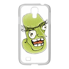 Mad Monster Man with Evil Expression Samsung GALAXY S4 I9500/ I9505 Case (White)