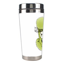 Mad Monster Man With Evil Expression Stainless Steel Travel Tumbler