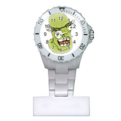 Mad Monster Man With Evil Expression Nurses Watch