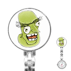 Mad Monster Man with Evil Expression Stainless Steel Nurses Watch