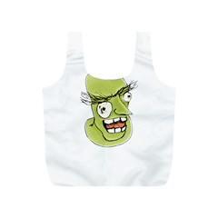 Mad Monster Man with Evil Expression Reusable Bag (S)