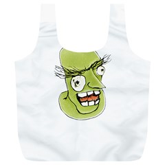Mad Monster Man with Evil Expression Reusable Bag (XL)