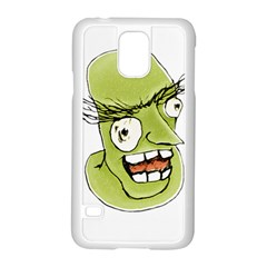Mad Monster Man With Evil Expression Samsung Galaxy S5 Case (white)