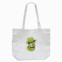 Mad Monster Man with Evil Expression Tote Bag (White)