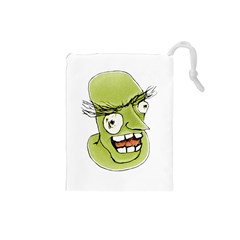 Mad Monster Man with Evil Expression Drawstring Pouch (Small)
