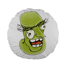 Mad Monster Man with Evil Expression 15  Premium Flano Round Cushion