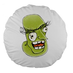Mad Monster Man With Evil Expression 18  Premium Flano Round Cushion