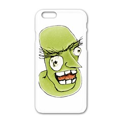 Mad Monster Man with Evil Expression Apple iPhone 6 White Enamel Case