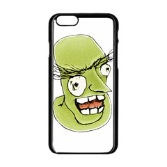Mad Monster Man With Evil Expression Apple Iphone 6 Black Enamel Case