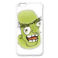 Mad Monster Man with Evil Expression Apple iPhone 6 Plus Enamel White Case