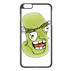Mad Monster Man with Evil Expression Apple iPhone 6 Plus Black Enamel Case