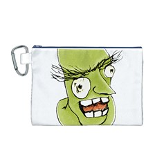 Mad Monster Man with Evil Expression Canvas Cosmetic Bag (Medium)