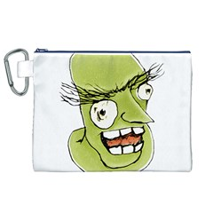 Mad Monster Man with Evil Expression Canvas Cosmetic Bag (XL)