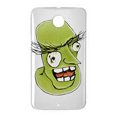 Mad Monster Man with Evil Expression Google Nexus 6 Case (White)