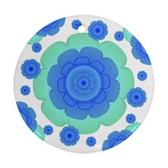 Retro Style Decorative Abstract Pattern Round Ornament