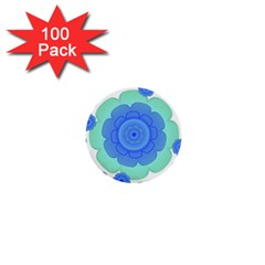 Retro Style Decorative Abstract Pattern 1  Mini Button (100 Pack)