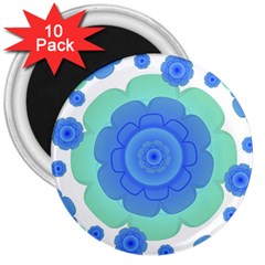 Retro Style Decorative Abstract Pattern 3  Button Magnet (10 Pack)