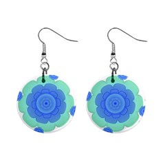 Retro Style Decorative Abstract Pattern Mini Button Earrings