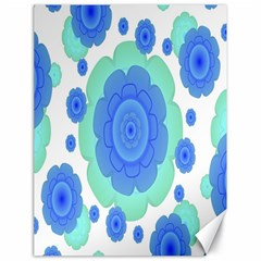 Retro Style Decorative Abstract Pattern Canvas 18  X 24  (unframed)
